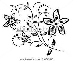 abstract floral ornament vectors free vector stock