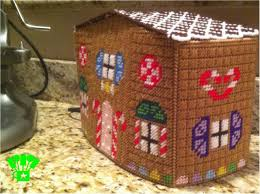plastic canvas gingerbread house toaster cover everyday parties