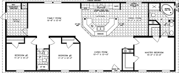 4 Bedroom 2 Bath House Plans 1600 To 1799 Sq Ft Manufactured Home Floor Plans
