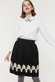 Black Blouse With White Collar Love Cat Shirt White Miss Patina Vintage Inspired Fashion
