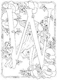 alphabet fairy coloring pages free