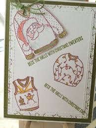 card made with stampin up 2017 christmas sweaters my stampin up