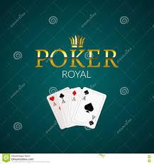 poker casino poster logo template design royal golden poker room