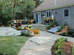 Gravel Backyard Ideas Landscape Landscape Ideas For Backyard Decor Stunning Gray And