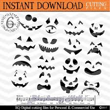 halloween clipart creation kit pumpkin pumpkin faces svg spooky faces cuttin design bundles
