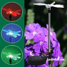 Solar Stake Garden Lights - solar dragonfly garden light stake