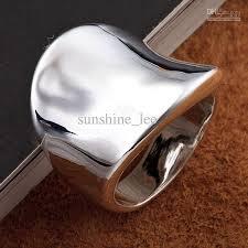 big silver rings images Top sale fashion 925 silver generous men 39 s finger rings big rings jpg