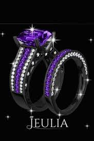 black and purple engagement rings rhodium plating asscher cut 925 sterling silver engagement ring