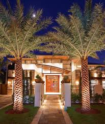 palm tree home decor palm tree home decor exterior contemporary with front entry front