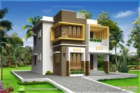 1500sqft single storey indian contemporary house plan elevation