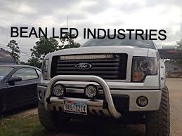 Led Grill Light Bar by A New Ford F150 With A Custom Mounted 31
