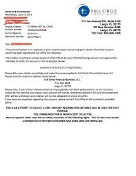 example letters for debt settlement validation u0026 credit