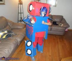 optimus prime transformer homemade halloween costume