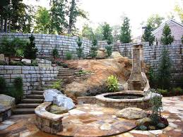 residential retaining wall makes beautiful estate possible
