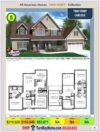 two story home plans priced