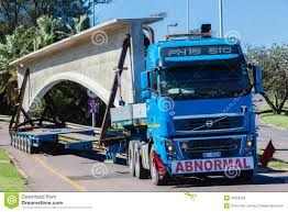 volvo trucks south africa abnormal truck trailer heavy load editorial stock photo image