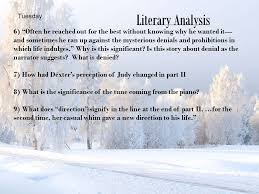 analytical questions winter dreams by f fitzgerald