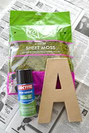 moss covered letter made to be a momma