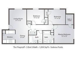 3 bedroom floor plans 3 one bedroom apartments with floor plans 8