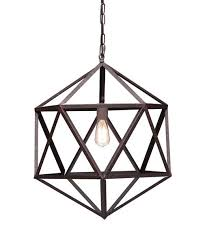Modern Light Fixture Amethyst Small Metal Angular Chandelier Moss Manor A Design House