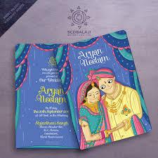 Wedding Invitation Cards In Coimbatore Atma Studios Branding Studio U0026 Illustration House Coimbatore India