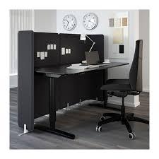 Black Reception Desk Bekant Reception Desk Sit Stand Gray Black 63x31 1 2 47 1 4