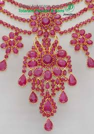 pink ruby necklace images 22k gold ruby necklace drop earrings set jpg