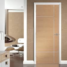 Oak Exterior Door by Caserta Oak Flush Door With Aluminium Inlay Prefinished