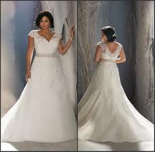 stunning beading lace a line short sleeve plus size wedding dress