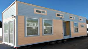 Mobile Home Modern Design Elegant Modern Trailer Homes With Warm Lamp And Grey Concrete Pics