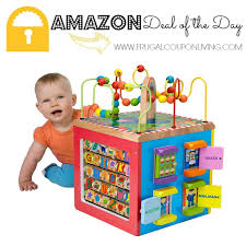 amazon alex black friday 2016 amazon deal of the day alex jr my busy town wooden activity cube