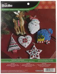 amazon com bucilla felt applique ornament kit 3 5 by 4 5 inch