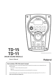 td 15 owners manual drum kit electrical connector