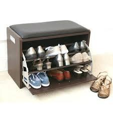 shoe storage ottoman bench diy shoe storage bench ivieandaj com