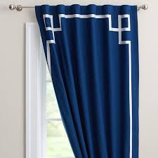 Blackout Curtains Windows Ribbon Trim Blackout Drape Pbteen