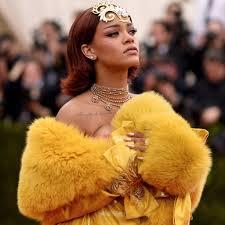 rihanna gold met dress u2013 dress ideas