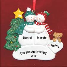 anniversary ornament our 2nd anniversary or any number personalized christmas