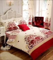 cream and red duvet covers home design ideas