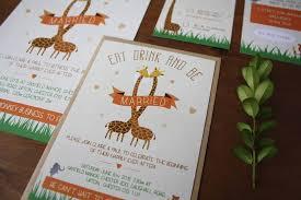 themed wedding invitations zoo themed wedding invitation bundle by rodo creative