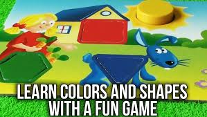 learn colors and shapes game with fun colorful drawings toy