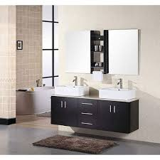 Design Element Contemporary Double Sink Bathroom Vanity With - Bathroom vanities double vessel sink