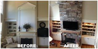 fireplace remodel before and after binhminh decoration
