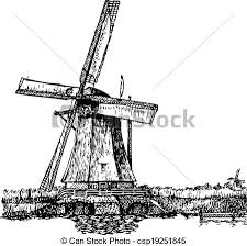 eps vector of windmill vector illustration of a windmill