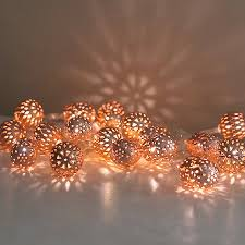 copper maroq light garland by lilly notonthehighstreet