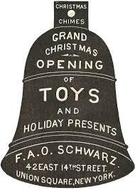 advertisement ornament 1800 s fao schwarz bell knick