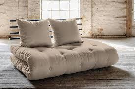 canapé futon canapé lit noir shin sano matelas futon couchage 140 200cm lights