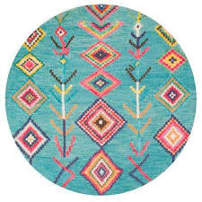 Turquoise Area Rug with Turquoise Round Area Rugs Rugs The Home Depot
