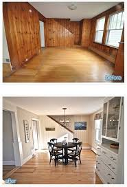 before u0026 after outdated paneled walls to fabulous space http