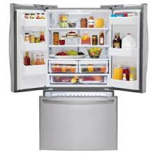 Home Depot French Door - lg electronics 24 1 cu ft french door refrigerator in stainless