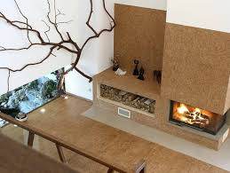 decorations earthy modern fireplace on brown wall of living room